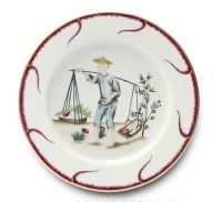 Alberto Pinto Chinoiserie Buffet Plate - www.fxdougherty.com