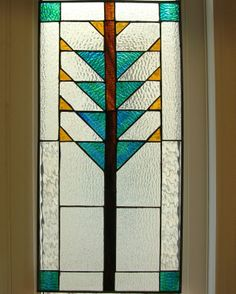 frank lloyd wright stained glass tree of life mosaic | designed it myself to fit my kitchen window loosely