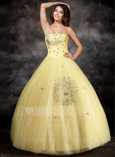 Quinceanera Dresses - $166.49 - Ball-Gown Strapless Floor-Length Organza Satin Quinceanera Dress With Beading (021017112) http://jjshouse.com/Ball-Gown-Strapless-Floor-Length-Organza-Satin-Quinceanera-Dress-With-Beading-021017112-g17112?pos=best_selling_items_80
