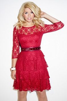 The press can't get enough of Holly Willoughby as pictures of her new fashion range showcasing the TV presenter's show-stopping looks are released today. Holly Willoughby Legs, British Celebrities, Female Celebrities, Blonde Women, Fashion Tips For Women, Stylish Outfits, Stylish Clothes, Nice Outfits, Lady In Red