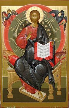 Jesus Christ in Glory modern icon