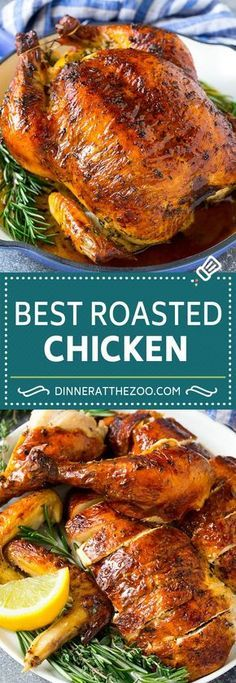 Whole Chicken Recipes Oven, Whole Baked Chicken, Best Roasted Chicken, Roast Chicken Recipes, Best Baked Whole Chicken Recipe, Roast Chicken And Stuffing, Easy Roast Chicken, Roasting Chicken In Oven, Roast Chicken Dinner