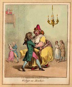WALTZER AU MOUCHOIR 1800, Gilray