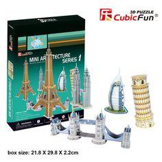 3D Puzzle - Mini Architecture Series 1 - SuperSmartChoices