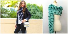 Adorable Soft Bow Printed Scarves-in 4 pretty colors