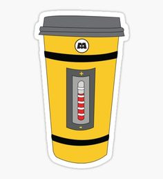 Monster Coffee Cup Pegatina