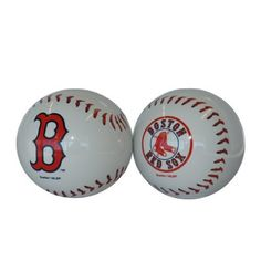 afc71b1ee99 MLB Boston Red Sox Sculpted Baseball Shaped Salt and Pepper Shakers