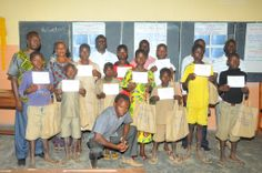 The winners of the WED project from Batia Public Elementary School, Benin