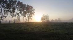 Sunrise burning away the Galician mists.