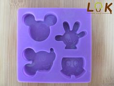 Free shipping DIY 4 Mickey ice cream tools silicone mold /jelly ice tray mold / cake muffin mold / candy mold-in Cake Molds from Home & Gard...