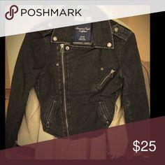 American Eagle Black Denim Jean Jacket XS American Eagle Black Denim Jean Jacket. Size: XS. Never worn! American Eagle Outfitters Jackets & Coats Jean Jackets