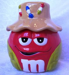 Hard to find Red M Candy Fisherman Cookie jar