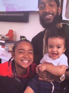 Nipsey Hussle and his kids