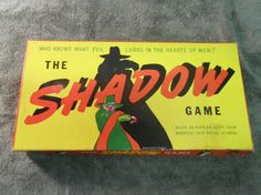 RARE 1941 'The Shadow' Board Game by Toy by nashvillepicker, $450.00