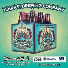 Ninkasi Believer Double Red Ale returns in 22oz, 6-packs and draft this month