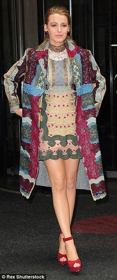 Blake Lively wears FOURTEEN different outfits in less than 48 hours | Daily Mail Online
