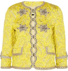 Gucci - Metallic Brocade Jacket - Yellow - 7112style.website -