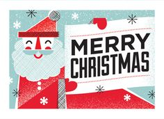 Christmas / XMS-61 - Santa Merry Christmas / Holiday Cards from Lure Paper Goods $4.25