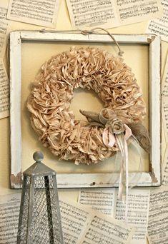 Coffee Filter Wreath  Nob Hill