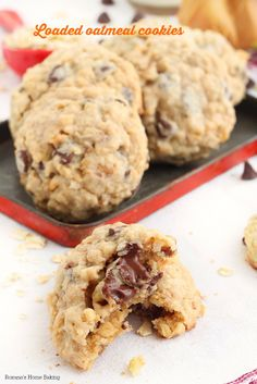 Melting chocolate, creamy peanut butter, flavorful shredded coconut, crunchy pecans and chewy oats - all combined in these irresistible chocolate chip oatmeal cookies.