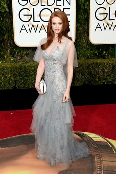 Golden Globes 2016: The Redheads On The Red Carpet – Sarah Hay