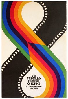 Reprint of a Vintage 1975 Polish Film Festival Poster