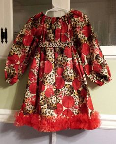 Hey, I found this really awesome Etsy listing at https://www.etsy.com/listing/172434397/peasant-dress-christmas-red-ornaments