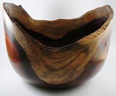Wood Bowl No130202  Cocobolo Natural Edge by conreysa on Etsy, $180.00