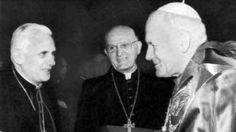 La imagen: Juan Pablo II, Benedicto XVI y Francisco, los últimos tres papas juntos http://1502983.talkfusion.com/product/
