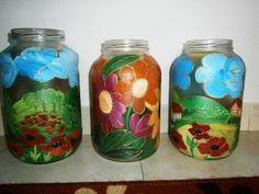 Maľovanie na sklo - Mason Jars, Mason Jar, Jars