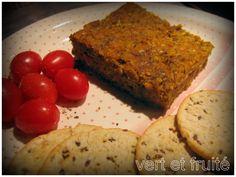 Végé-pâté aux graines de tournesol et de citrouille , délicieuse recette pour fêter Halloween