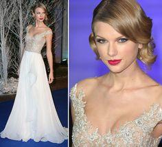 Não costumava prestar muita atenção em Taylor Swift... até me dar conta, no Grammy Awards, que ela sempre é uma das minhas preferidas nosred carpets. Sem