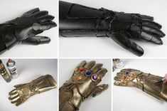 Weild your very own Infinity Gauntlet with the help of this step-by-step DIY. You'll rule the world this Halloween or contention season. Superhero Halloween Costumes, Handmade Halloween Costumes, Avengers Costumes, Wholesale Halloween Costumes, Halloween Kids, Costumes Kids, Halloween 2019, Halloween Cosplay, Halloween Makeup