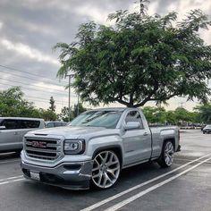 Image may contain: sky cloud car tree and outdoor Custom Pickup Trucks, Chevy Pickup Trucks, Classic Chevy Trucks, Gm Trucks, Cool Trucks, Chevy 4x4, Dropped Trucks, Lowered Trucks, Lifted Trucks