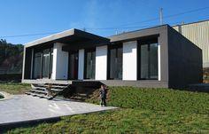 Ideas de Casas: Exterior,Jardin, estilo Vanguardista diseñado por MUIÑOS + CARBALLO arquitectos - Arquitecto #Casas #Vanguardista #Exterior #Jardin #Fachada #cajondeideas