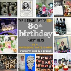 80th Birthday Party Ideas Decorations Invitations 85th