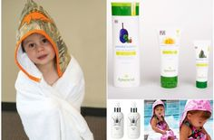 Bath Time Luxuries-- deluxe hooded towels and gentle, all-natural body, skin, and hair care. 43-55% off on #kidsteals