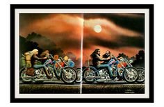 """His & Hers"" sunset bike ride by David Mann"