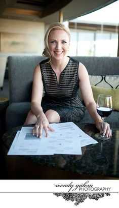 This is SUCH a great branding pic - she's professional, looking over your contracts, but engaging leaned forward and relaxed/relatable with her glass of wine. - photography by Wendy Yalom Corporate Portrait, Business Portrait, Business Photos, Professional Profile Pictures, Professional Portrait, Business Headshots, Corporate Headshots, Headshot Photography, Photography Branding