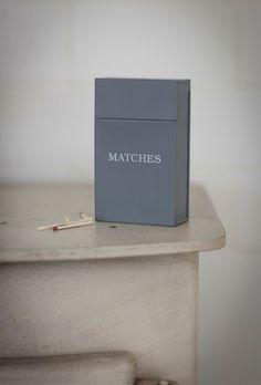 Garden Trading Enamel Match Box with Hinged Lid by BiggerSavingsLtd on Etsy