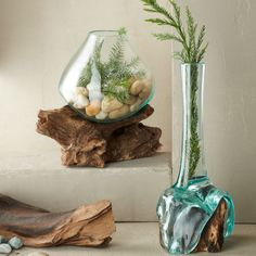 Teak and Blown Glass Collection - Nature-Inspired Holiday Style - Collections | VivaTerra