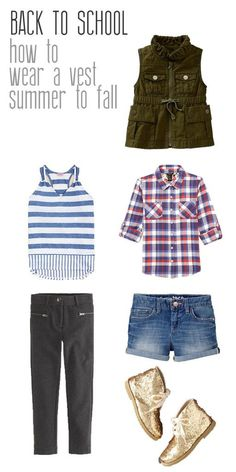 how to wear vests from summer to fall. back to school fashion trends for
