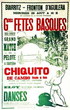 Grandes Fêtes Basques - Biarritz - Fronton d'Aguilera - Chiquito de Cambo vers 1930