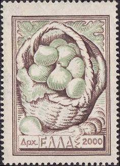 1953 Έκδοση Εθνικά προϊόντα -  Σύκα Τεμάχια : 4.000.000