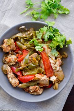 slow cooker chicken fajitas slow cooker chicken fajitas bell peppers ...