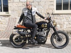 DT Motors retro #steampunk influenced #Triumph Scrambler