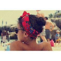 hair scarf for the beach