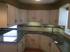 Kitchen refinishing on pinterest granite tile kitchen for Prefinished kitchen cabinets