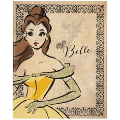 Fashionista Belle Canvas Art Print ($20) ❤ liked on Polyvore featuring home, home decor, wall art, art, disney, backgrounds, beauty and the beast, belle, stretched canvas and disney wall art