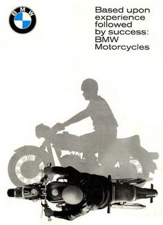 BMW motorrad advertisement 1965.